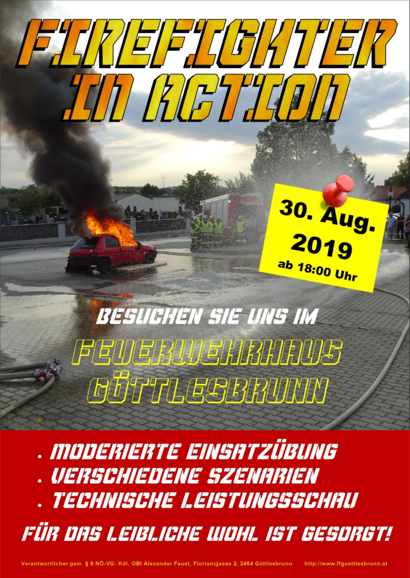 Fire Action Day Flyer